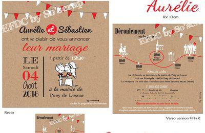 Le faire part de mariage thème féria (basque) d'Aurélie et Sébastien ... rouge et blanc