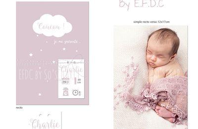 Une petite nouveauté au catalogue naissance fille ... nuage et petites étoiles
