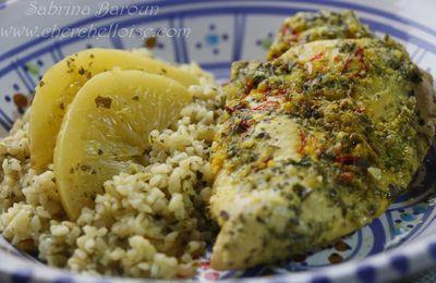 suprêmes de poulet au safran TARIKI  et citron confit