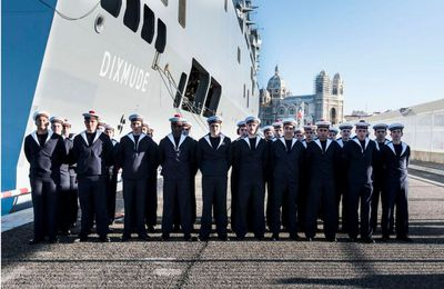 Marseille, ville marraine du Dixmude, 3e BPC de la Marine Nationale
