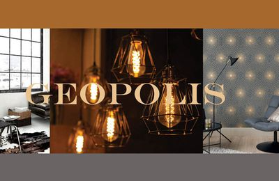Géopolis, nouvelle collection de papiers peints de Lutèce