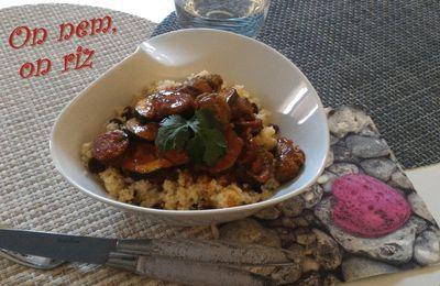 Couscous d'agneau au chorizo et aux courgettes