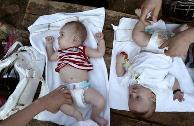 Des substances toxiques détectées dans (presque toutes) les couches bébé