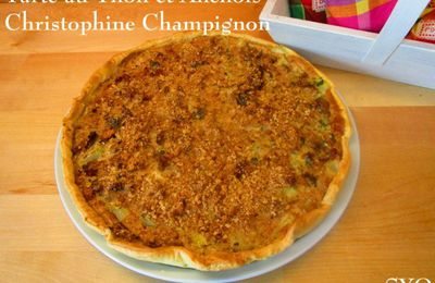 Tarte exotique: thon, anchois, Christophines, Champignons