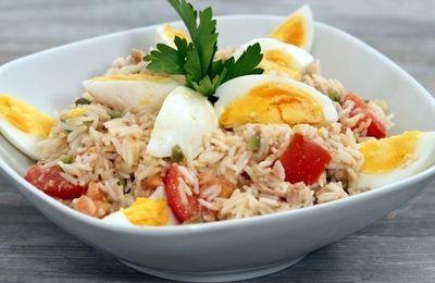 Salade de riz à la vinigrette de mangue