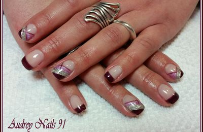 Nail art lila shake , purple et splendid moon