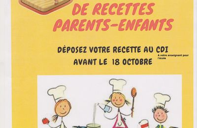 A vos fourneaux ! Grand Concours de recettes Parents-Enfants