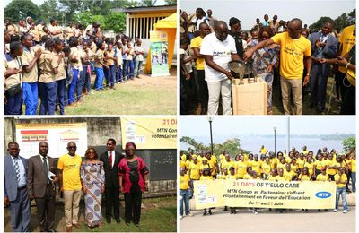 MTN CONGO LANCE SON #YELLO CARE AU CEG COMMUNE DE BACONGO