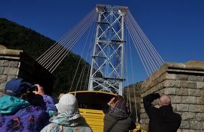 Le train jaune sur le pont Gisclard