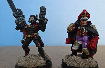 Assassin Vindicare, Commissaire de la Garde Impériale , Chapelain et Capitaine Space Marine (W40K)