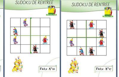 Sudoku sur la rentrée des classes