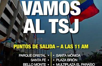 Venezolanos salen a las calles para apoyar la designación de los nuevos magistrados en la Asamblea Nacional
