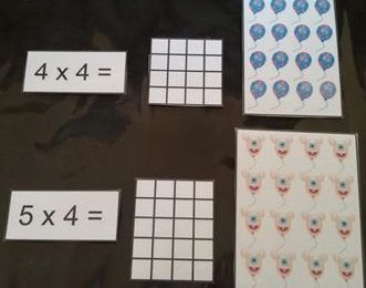 Jeu de découverte de la multiplication par 4
