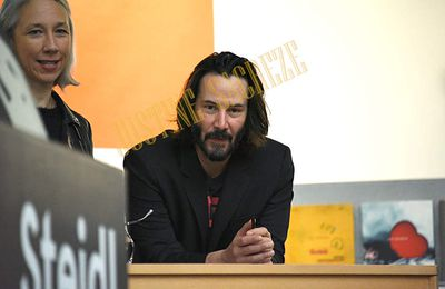 Keanu Reeves au Grand Palais et au Palais de Tokyo, séance de dédicaces et lancement de la Maison d'Edition X Artists' Books en Europe !