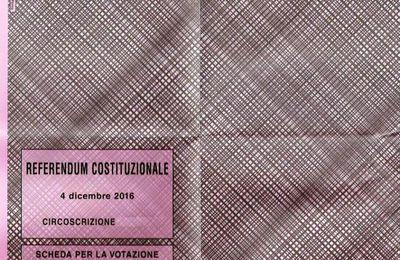 Il referendum del 4 dicembre 2016