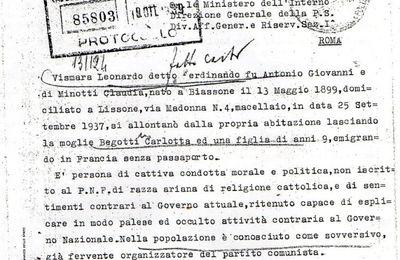 Leonardo Vismara, un oppositore al regime fascista fin dalla prima ora