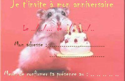 Carte d'invitation anniversaire à imprimer