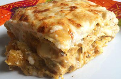 Lasagnes à la courge butternut, sauge et cantal