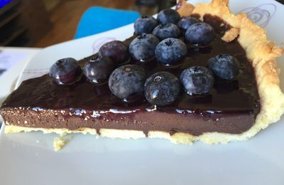 Tarte ultra black chocolat myrtille