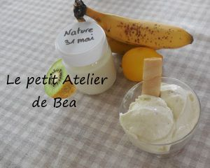 Glace au yaourt banane kiwi citron