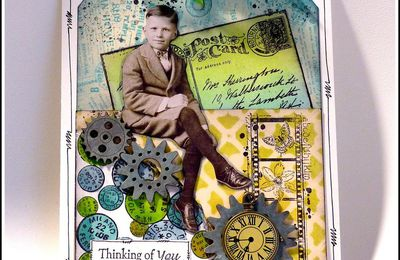 DEUX CARTES TAGS VINTAGE - DT CRAFTY INDIVIDUALS