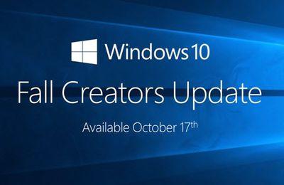 Windows 10 Fall Creators Update - Les nouveautés et disparitions