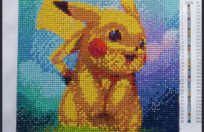 Broderie diamants : Pikachu