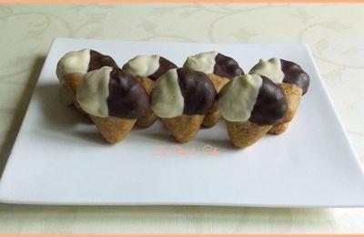 Cornets de glaces aux 2 chocolats