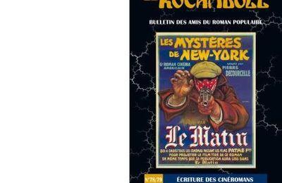 Ecriture des Cinéromans. Revue Le Rocambole N°78/79.
