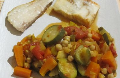 Tajine de poisson aux épices et légumes de saison à la mijoteuse