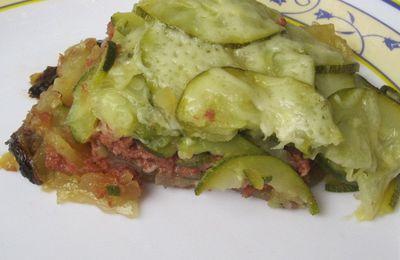 Gratin courgettes/pommes de terre au boeuf en multicuiseur