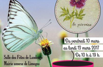 Participation de Maison Bleu Lin au Printemps des Brodeuses à Limoges du 10 au 13 mars