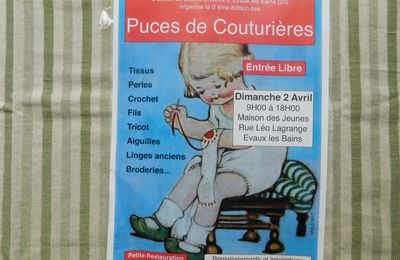 Puces des couturières à Evaux les Bains (23) le 2 avril de 9h à 18 h