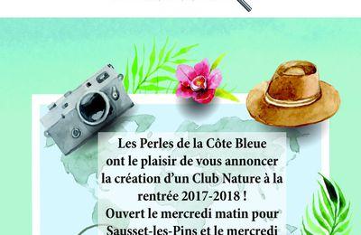 Tout nouveau cette année les Perles de la Côte Bleue créent le Club Nature !