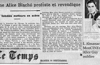 1933 Mme. Alice Blache proteste...
