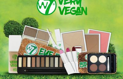 Very Vegan la nouvelle collection maquillage de W7 entièrement VEGAN....