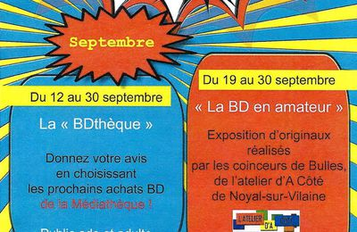 L'atelier BD de l'association expose à Vitré