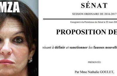 """LA SÉNATRICE NATHALIE GOULET VEUT SANCTIONNER PÉNALEMENT LES AUTEURS DE """"FAUSSES NOUVELLES""""."""