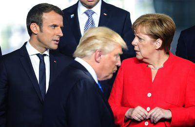 Humeurs & fureurs médiatico-transatlantiques +  l'arrivée du président Macron devant ses collègues de l'OTAN