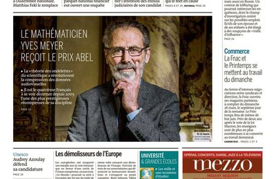 Le Monde du 23 Mars 2017