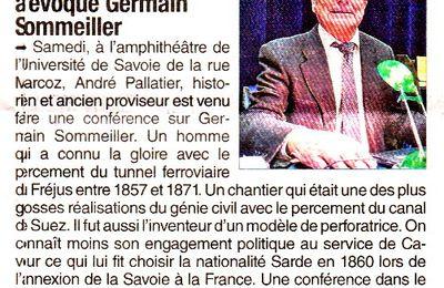 André Palattier sur Germain Sommeiller à Chambéry