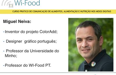 Miguel Neiva (ColorAdd) - professor do Wi-Food PT.
