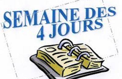 RETOUR SEMAINE DE 4 JOURS AUX ECOLES