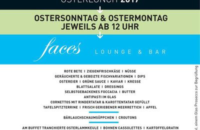 Osterlunch in der faces Lounge & Bar im Légère Hotel Bielefeld
