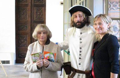 Les collages de Lidia Chiarelli au château d'Agliè (Turin Italie)- Conférence sur Filippo di San Martino, le 14 Octobre 2017