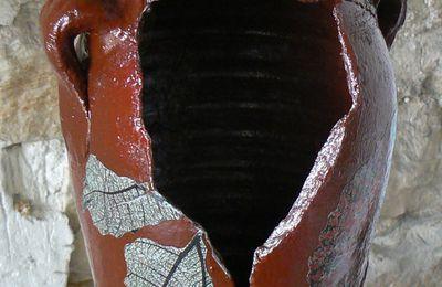 Vase terre Sienne