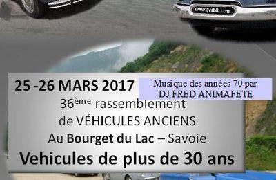 Rassemblement automobile du Bourget du lac 25 / 26 mars 2017