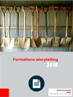 Le catalogue 2018 des formations au storytelling est paru