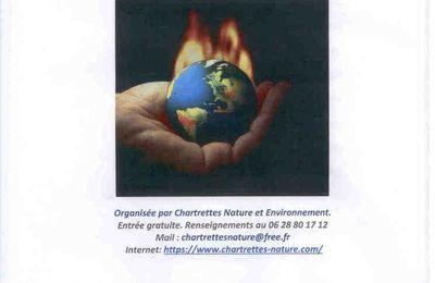 """Conférence """"Le changement climatique"""" organisée par Chartrettes Nature et Environnement vendredi 20 octobre 20h45"""
