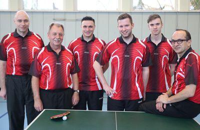 1. Tischtennis-Mannschaft der TG Veitshöchheim wurde bereits zwei Runden vor Schluss Meister